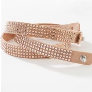 Tri wrap ultra suede bracelet in Blush Touchstone